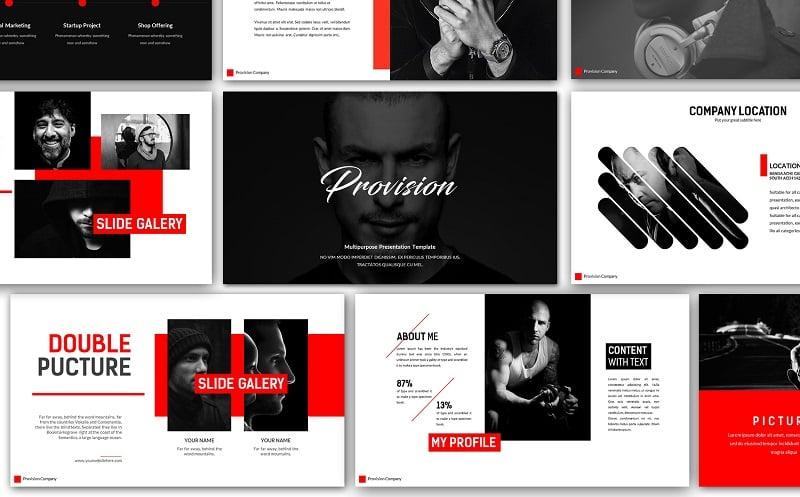 Provision Creative Presentation PowerPoint Template