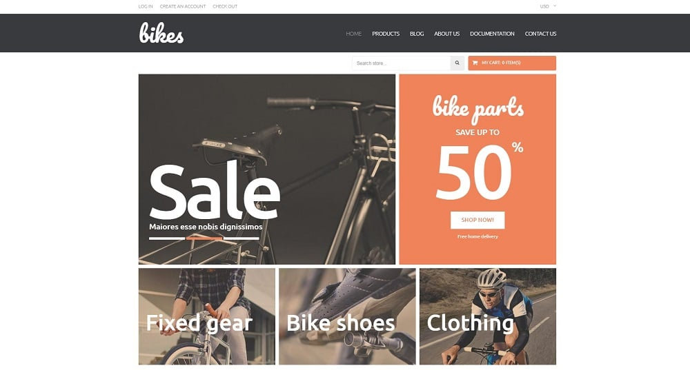 Shopping Bikes Accessories Shopify Theme