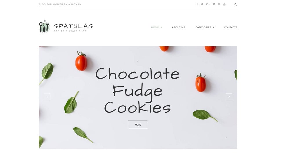 Spatulas - Recipe & Food Blog WordPress Theme