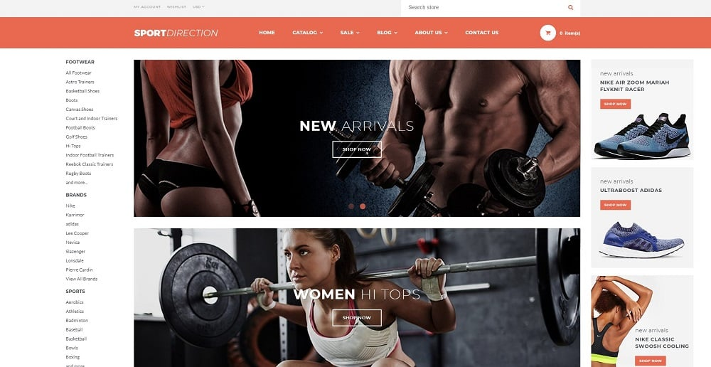 Sport Direction - Sports Store Shopify Theme