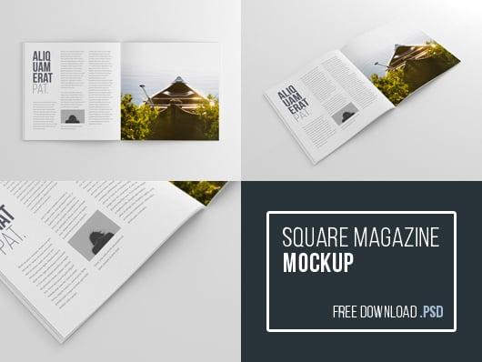 Square Format Magazine Mockup