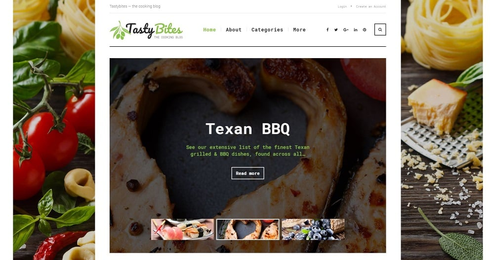 TastyBites - Recipe & Food Blog WordPress Theme