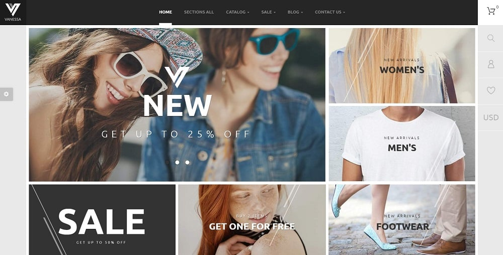 vanessa shopify theme