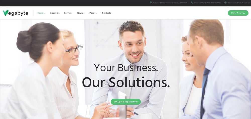 WegaByte - IT Consulting Firm WordPress Theme