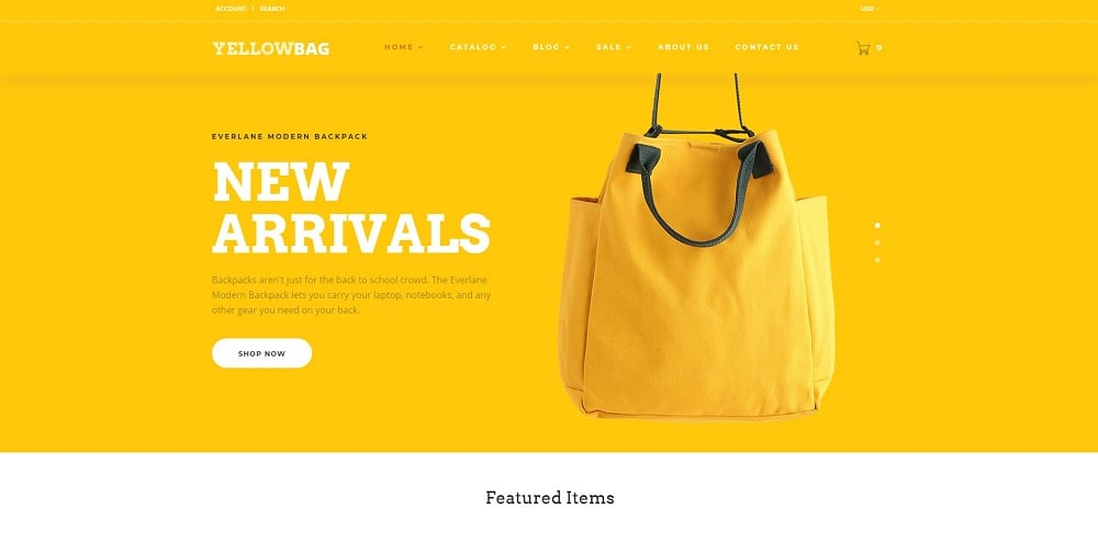 YellowBag - Handbag Responsive Shopify Theme