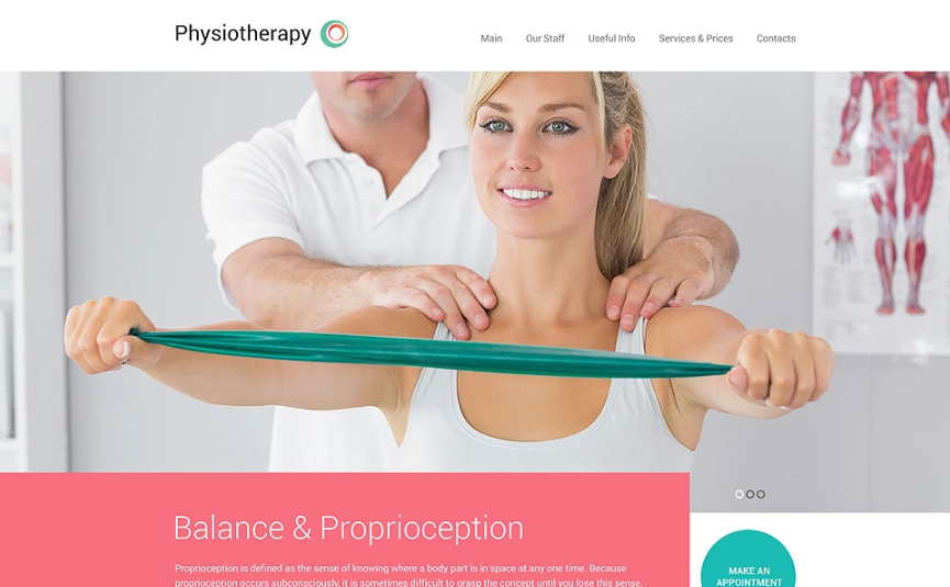 Physiotherapy Website Template