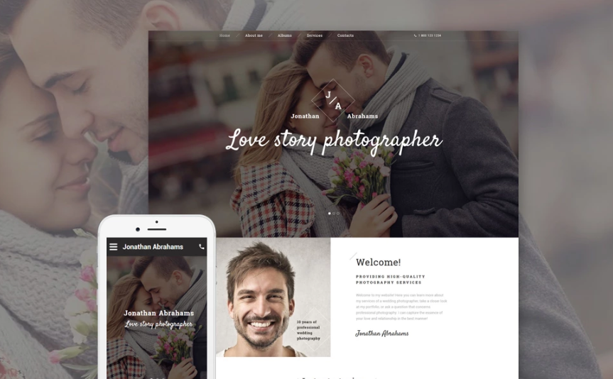 Photographer Portfolio Responsive Website Template