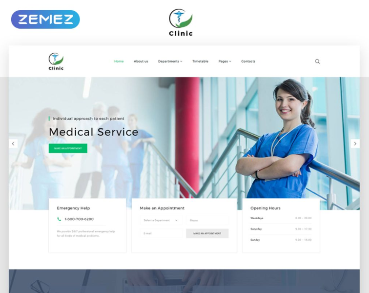 Clinic Medical Service Multipage Html5 Website Template