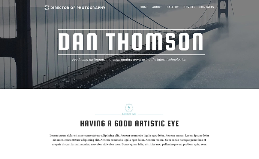 4 Photographer Portfolio Responsive Website Template