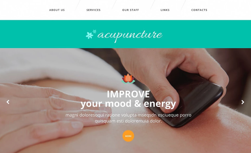 Acupuncture Clinic Website Template