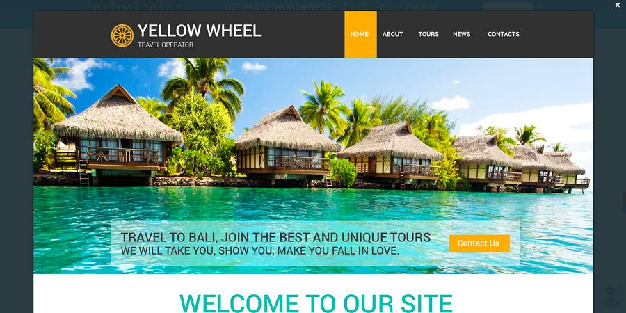 Travel Operator Website Template