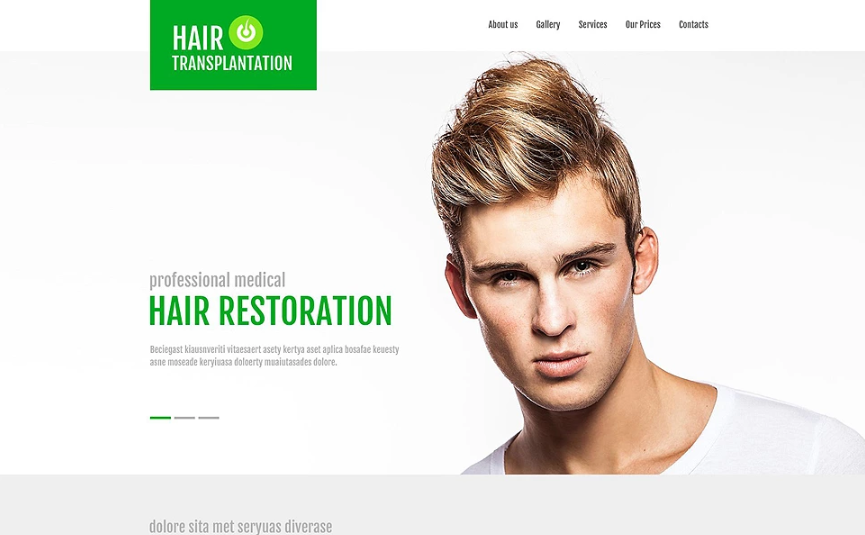 Hair Transplant Clinic Website Template