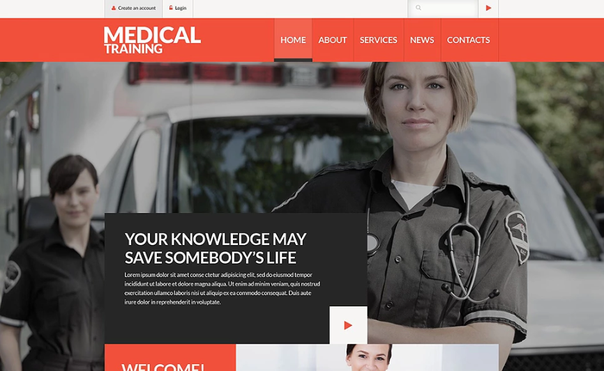 Medical Training School Website Template