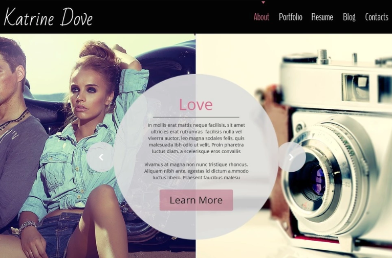 Free HTML5 Theme for Photo Site