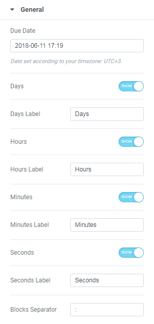 how to work with countdown timer in wordpress elementor themes