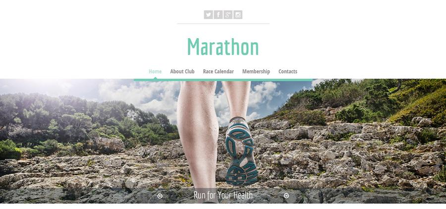 Free HTML5 Theme Marathon