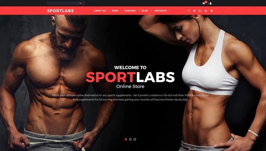 Sports Store Responsive MotoCMS Ecommerce Template