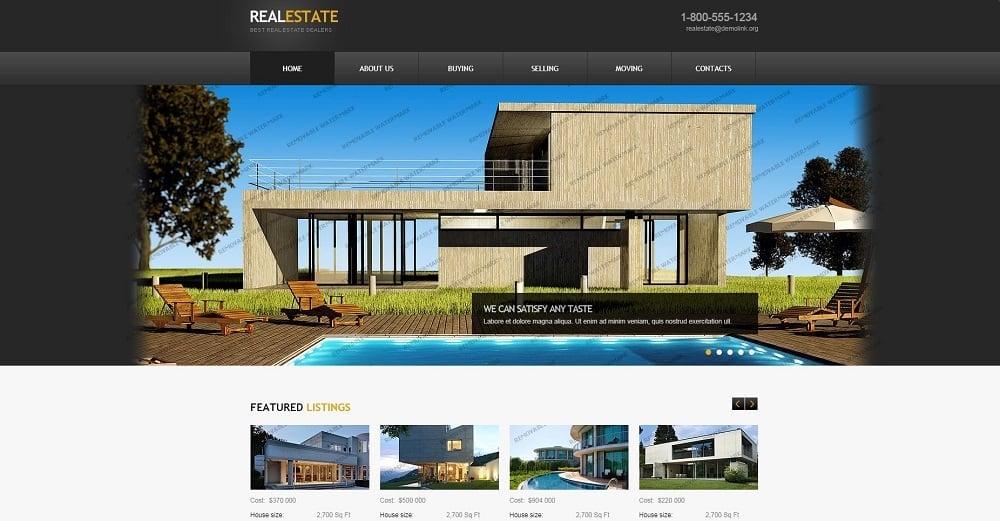 Real Estate Agency Website Template