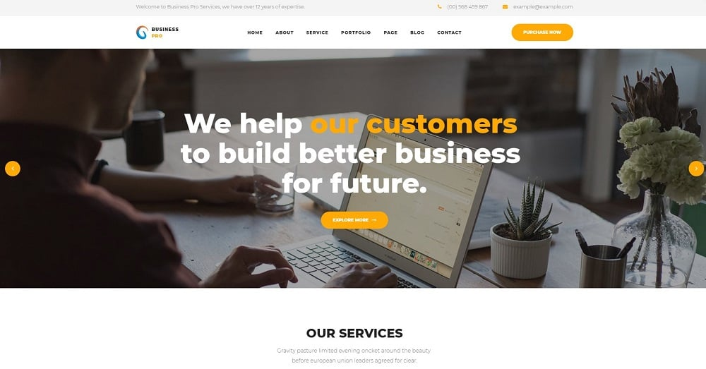Business Pro - Business, Consultation & Finance Website Template