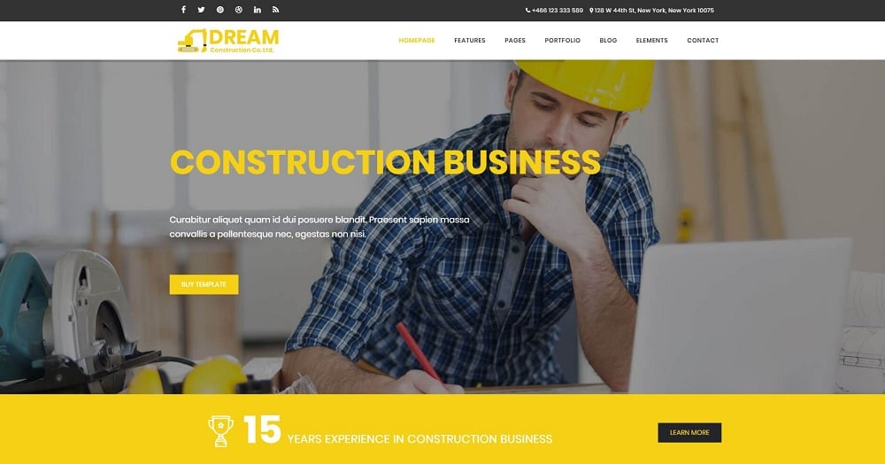 Dream - Construction & Business Bootstrap Website Template