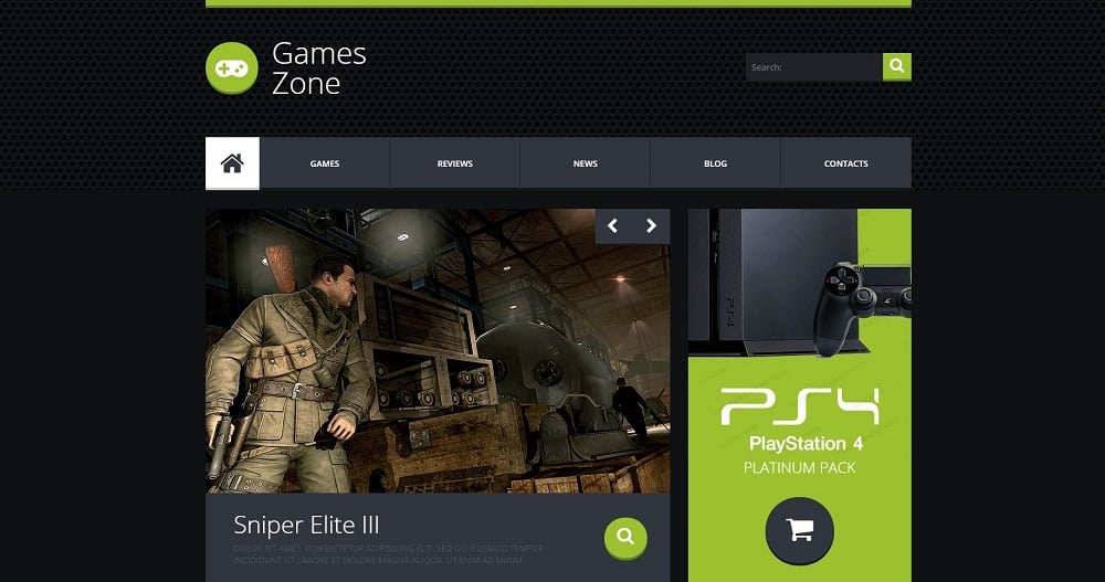 Game Portal Responsive Website Template