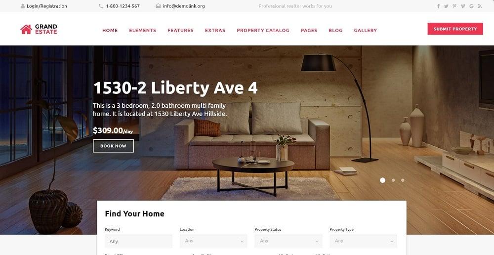 Grand Estate Website Template