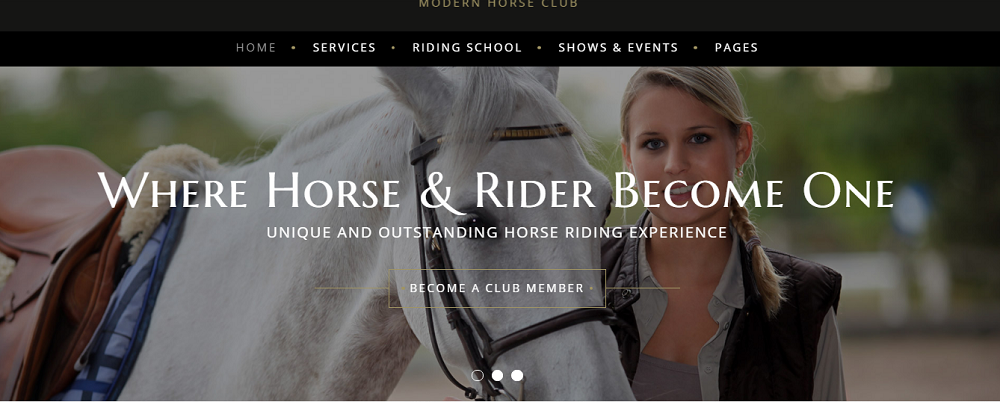 Horserati - Horse Club Multipage Website Template