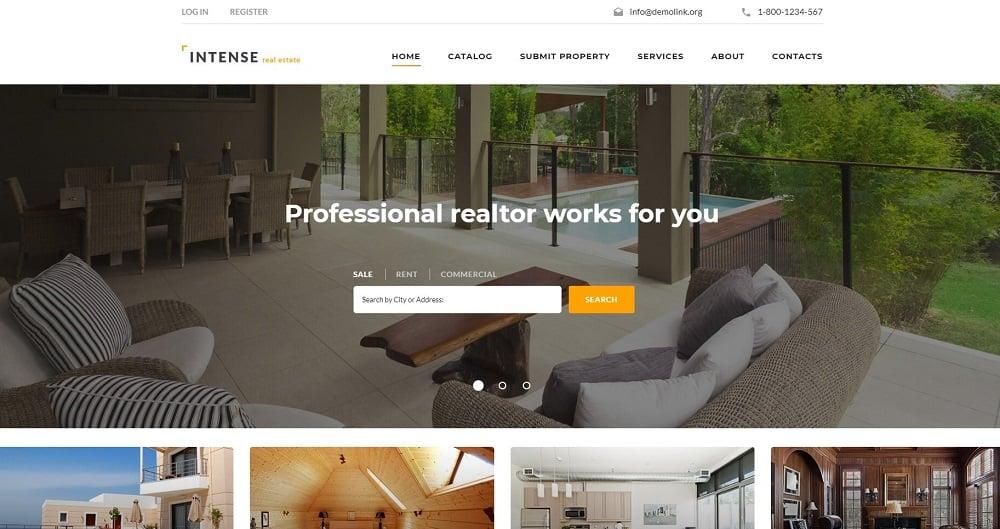 INTENSE Real Estate Website Template