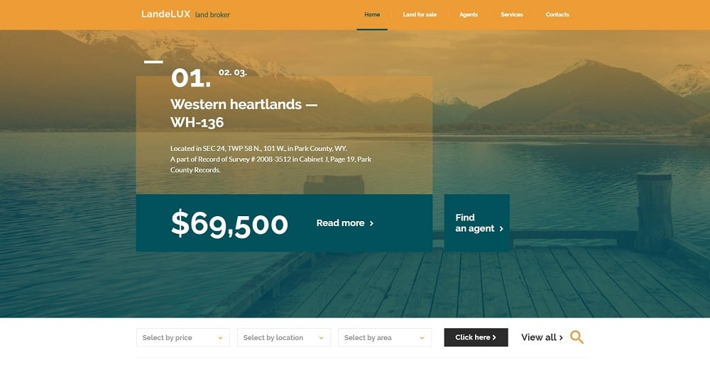 LandeLux - Land Broker Responsive Website Template