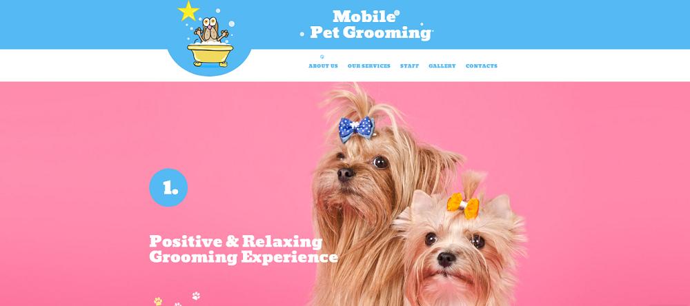 Mobile Pet Grooming Website Template