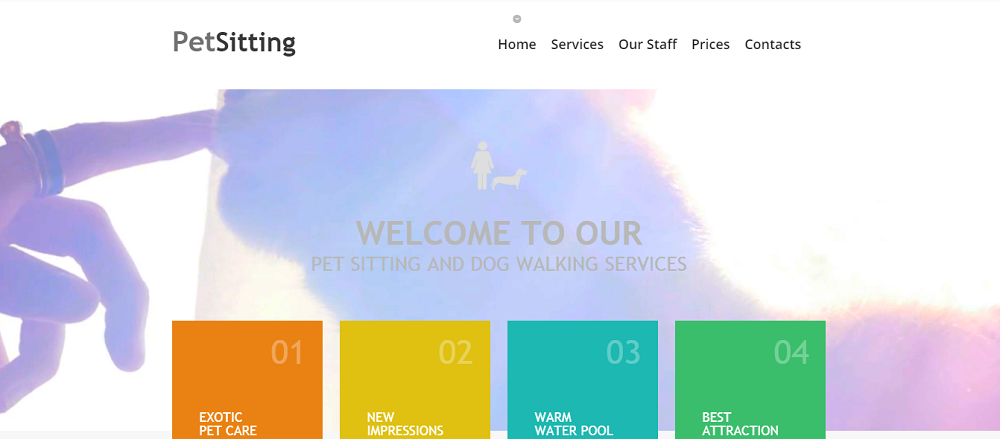 Pet Sitting Website Template