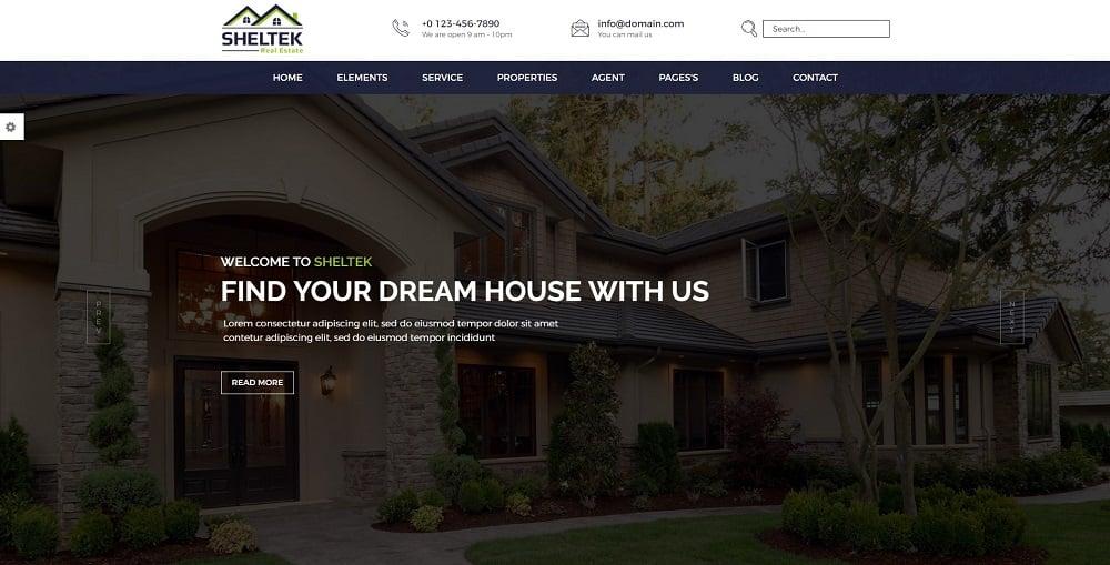 Sheltek - Real Estate Responsive Website Template