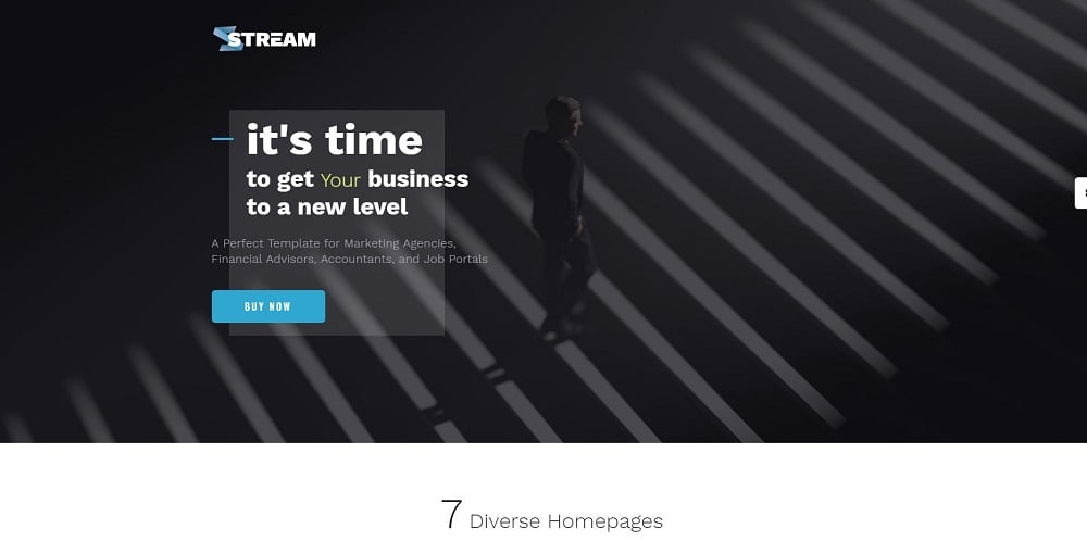 Stream - Dynamic Financial Adviser Multipage HTML Template Website Template