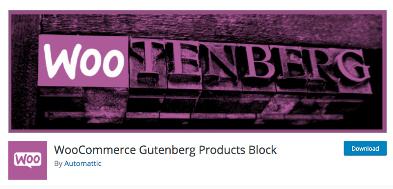 WooCommerce Gutenberg Products Block