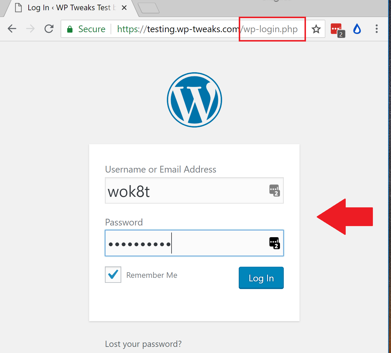how to change the wordpress login page without a plugin Create PHP Password Script wordpress login page