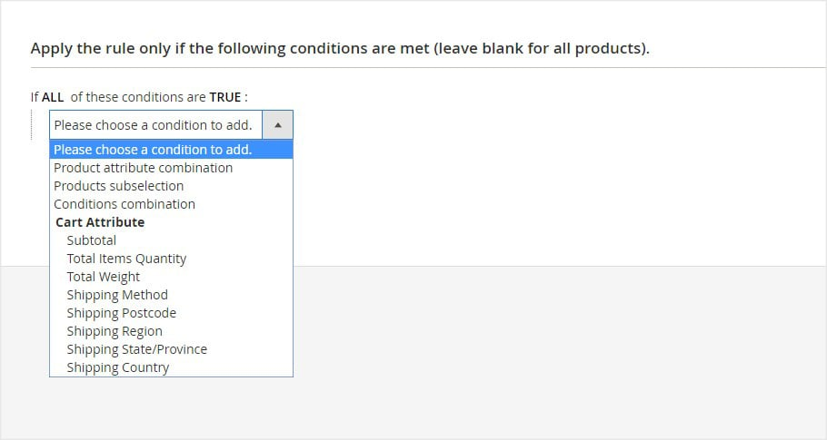 Set Checkout Form Rule and Condition