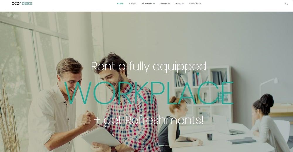 Cozy Desks - Coworking Elementor WordPress Theme