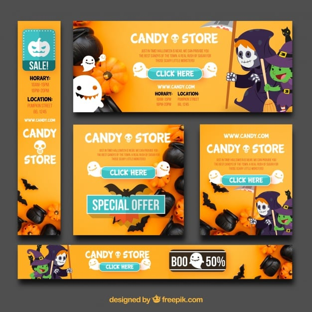 Fun pack of Halloween banners
