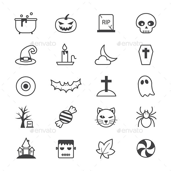 Halloween Party Icons