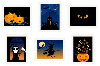 Halloween Stamps Icons