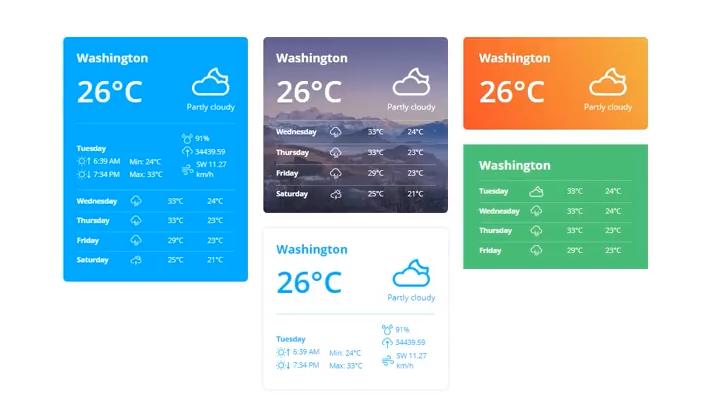 JetElements Elementor Plugin Weather Widget