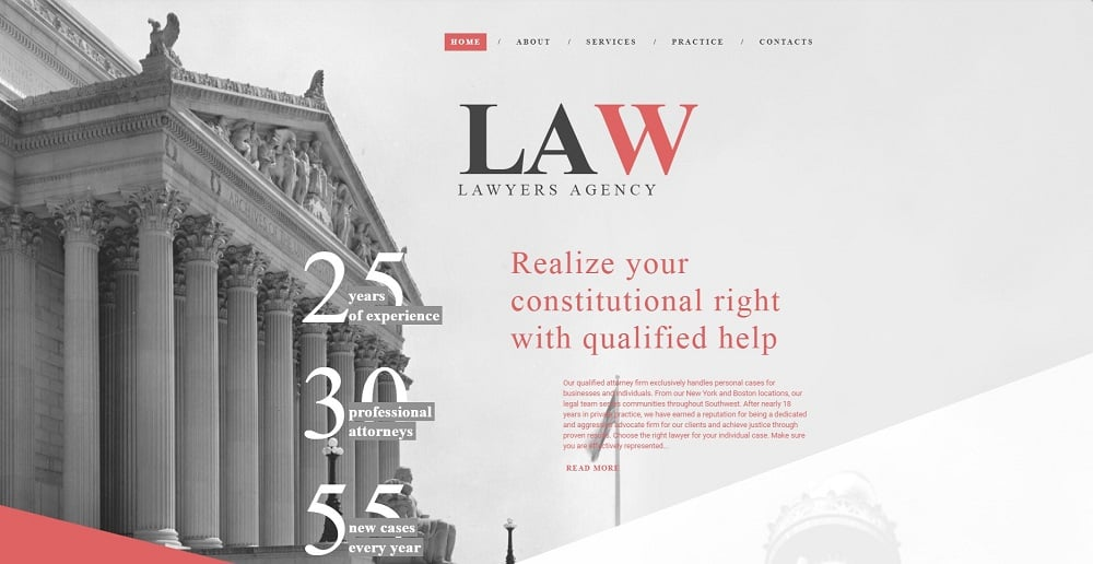 Law Firm Responsive Website Template