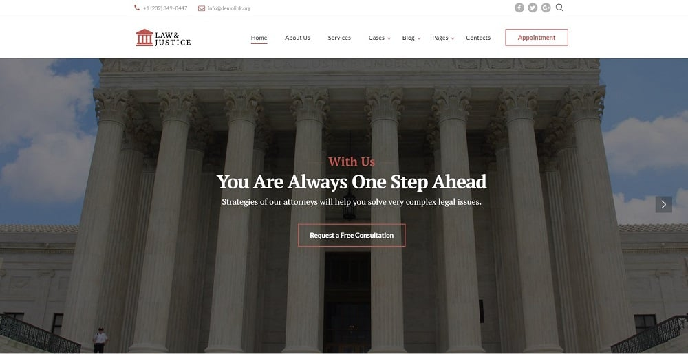 Law & Justice - Lawyer Multipage HTML5 Website Template