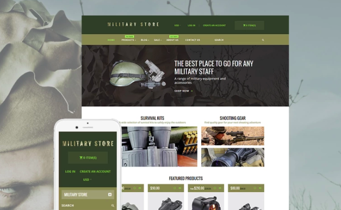 Military Shopify Theme