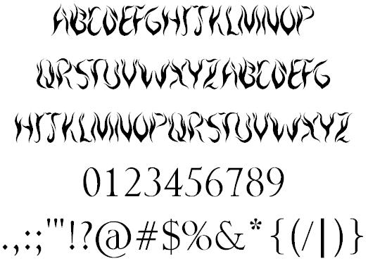 Royal Inferno font