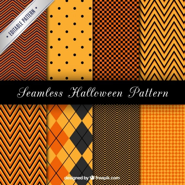 Seamless halloween patterns