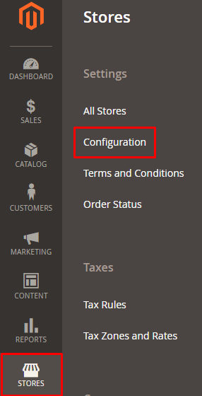 stores config