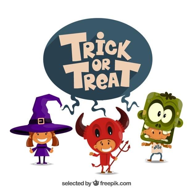 Trick or treat illustration