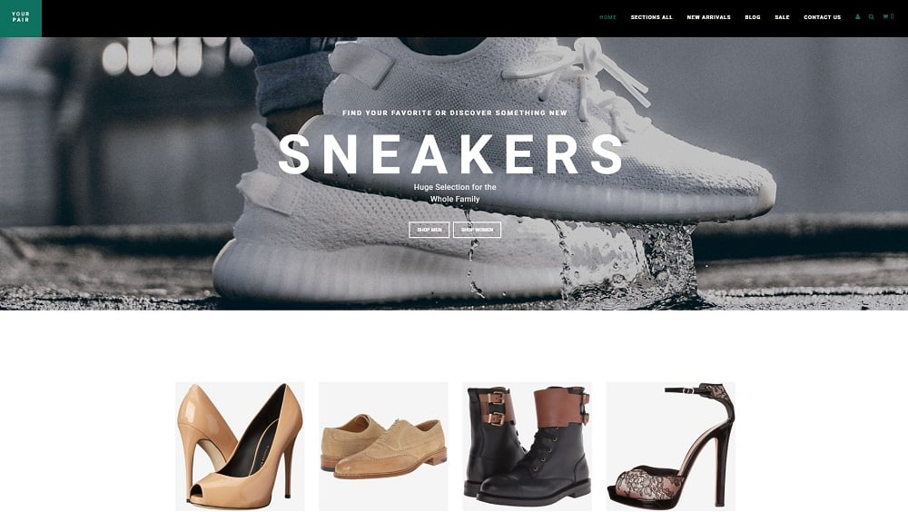Your Pair - Shoe Store Shopify Theme