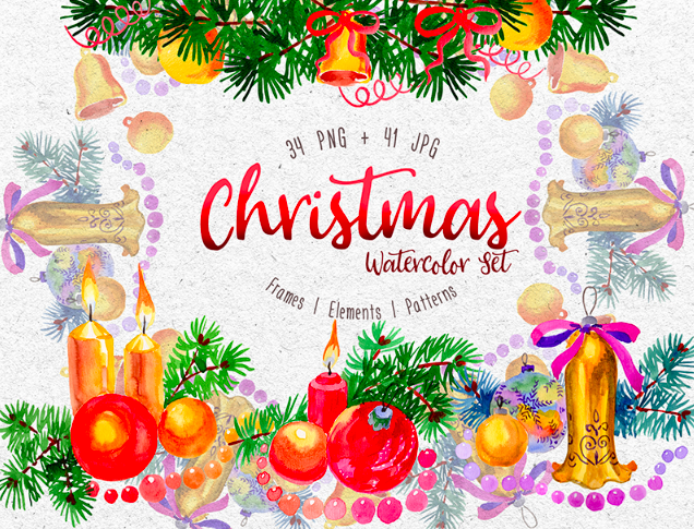 Christmas Watercolor PNG